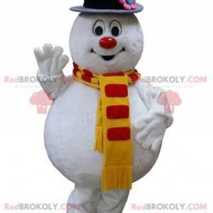 Baculatý a zábavný maskot bílého sněhuláka - Redbrokoly.com