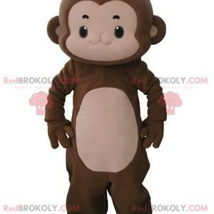 Very cute brown and pink monkey mascot - Redbrokoly.com