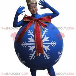 Giant blue Christmas tree ball mascot - Redbrokoly.com