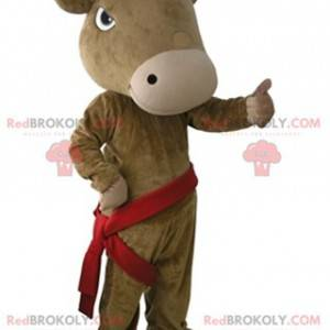 Giant and very realistic brown cow mascot - Redbrokoly.com