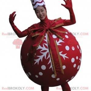 Obří červený vánoční stromeček míč maskot - Redbrokoly.com