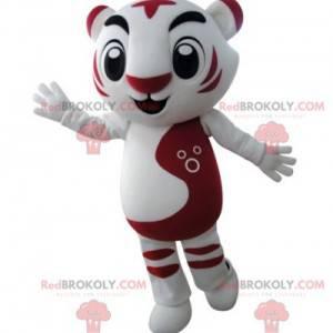 Velmi úspěšný maskot bílého a červeného tygra - Redbrokoly.com