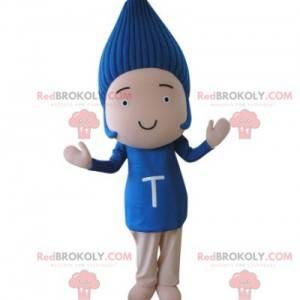 Dětský maskot s modrými vlasy - Redbrokoly.com