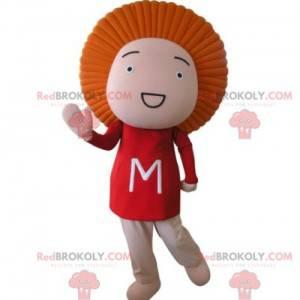 Baby doll mascot with orange hair - Redbrokoly.com