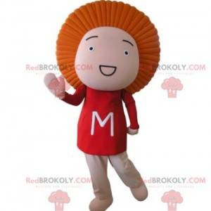 Babydukke maskot med oransje hår - Redbrokoly.com