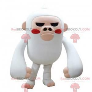 Maskot bílé a růžové opice divoce hledá - Redbrokoly.com