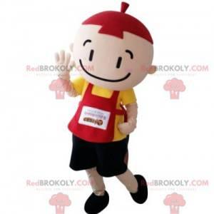 Maskott fargerik liten gutt med smekke - Redbrokoly.com