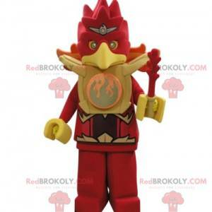 Roter und gelber Adler des Lego-Maskottchenvogels -