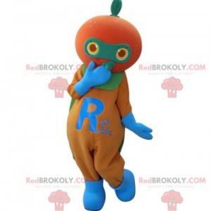 Obří oranžová mandarinka maskot - Redbrokoly.com
