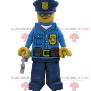 Lego maskotka ubrana w strój policjanta - Redbrokoly.com