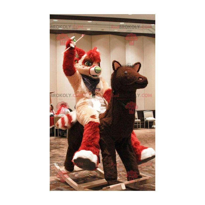 Red and cream cat mascot - Redbrokoly.com