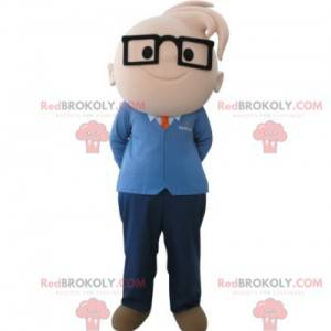Chlapec maskot s brýlemi. Maskot inženýr - Redbrokoly.com