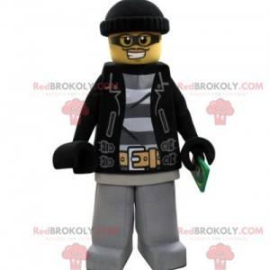 Lego maskotka przebrana za bandytę w czapce - Redbrokoly.com