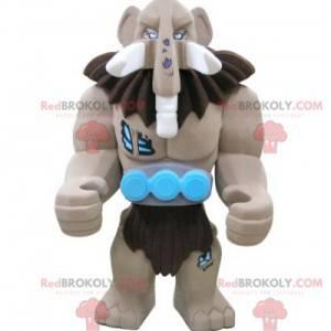 Lego giant brown mammoth mascot - Redbrokoly.com