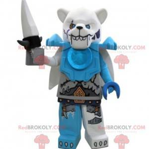 Lego mascot polar bear looking nasty - Redbrokoly.com