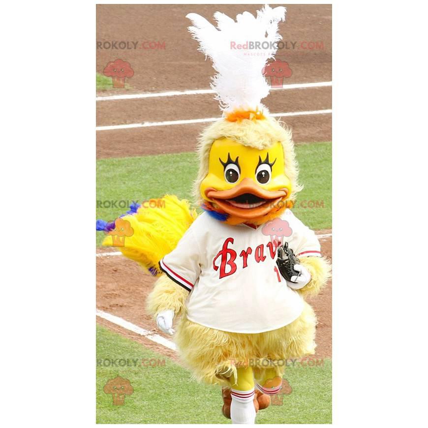 Chick yellow duck mascot - Redbrokoly.com