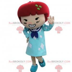 Mascot girl in dress with red hair - Redbrokoly.com