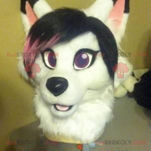 Mascote cabeça de cachorro para menina - Redbrokoly.com