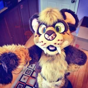 Hairy baby tiger mascot - Redbrokoly.com