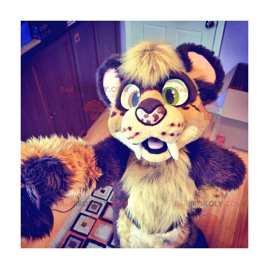 Chlupatý tygr maskot - Redbrokoly.com