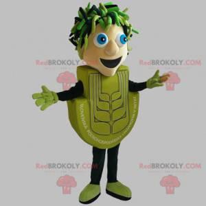 Zelený sněhulák maskot. Zelený muž - Redbrokoly.com
