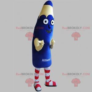 Giant blue pencil mascot. Pen mascot - Redbrokoly.com