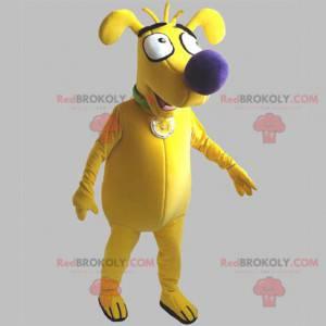 Zabawna i urocza żółta maskotka psa - Redbrokoly.com