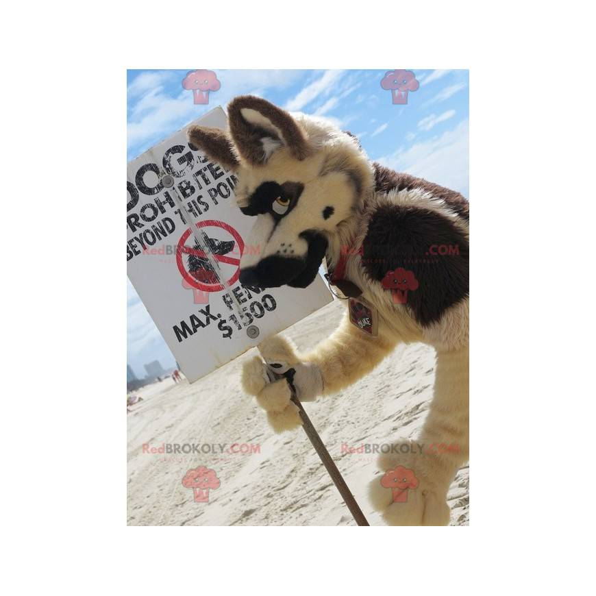 All hairy wolf dog mascot - Redbrokoly.com