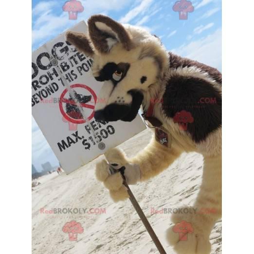 Všechny maskot chlupatý vlk pes - Redbrokoly.com