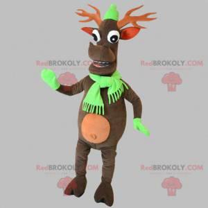 Vánoční sobí maskot. Karibu maskot - Redbrokoly.com