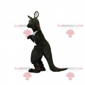 Schwarzweiss-Känguru-Maskottchen. Riesenkänguru - Redbrokoly.com