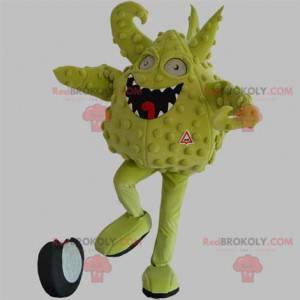 Maskot zelené monstrum. Zelené stvoření maskot - Redbrokoly.com