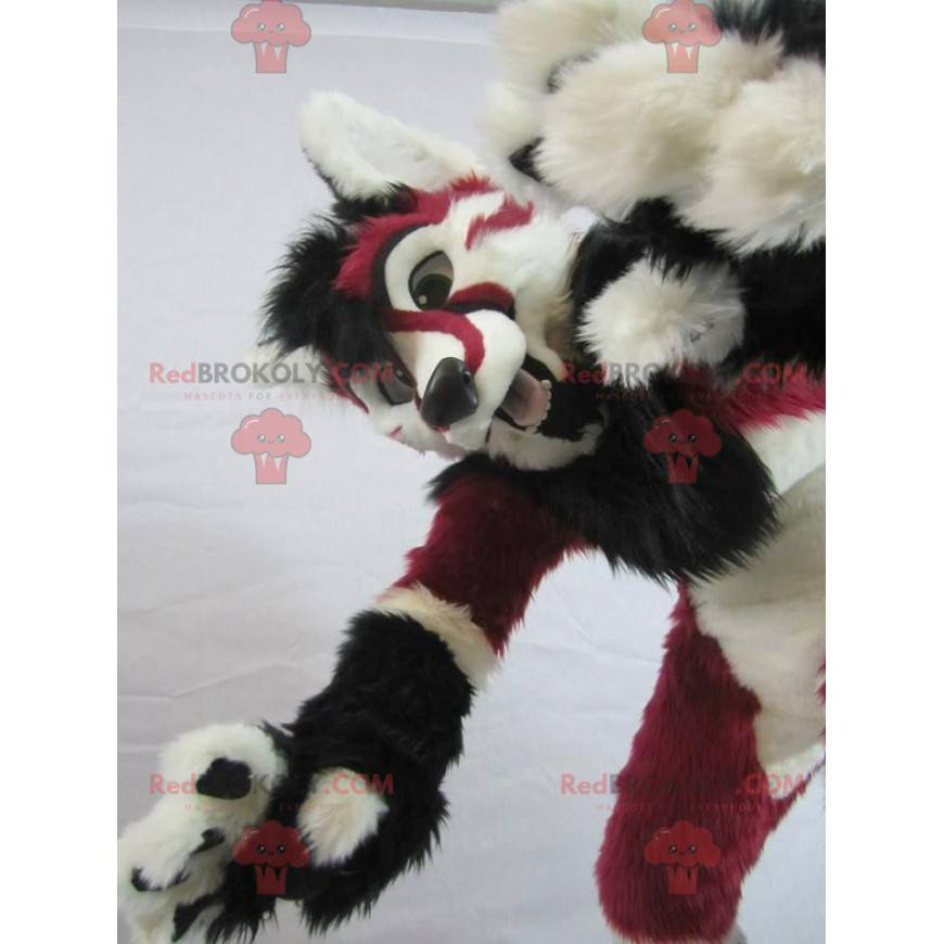 Cheetah mascot red white and black - Redbrokoly.com