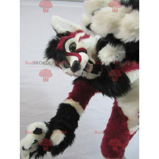 Gepard Maskottchen rot weiß und schwarz - Redbrokoly.com