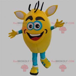 Yellow and blue snowman mascot. Monster mascot - Redbrokoly.com