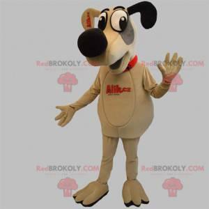 Hund Hundemaskottchen beige grau und schwarz - Redbrokoly.com