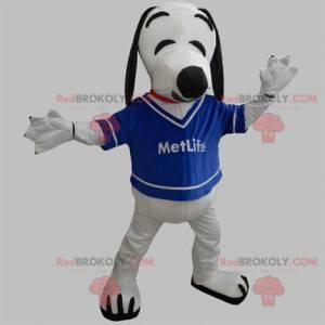 Biały i czarny pies maskotka. Maskotka Snoopy - Redbrokoly.com