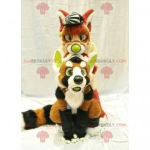 2 dog fox mascots - Redbrokoly.com