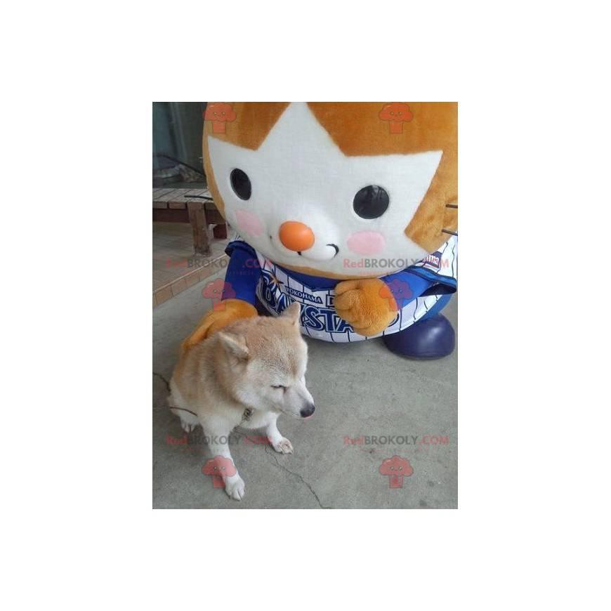 Orange und weißes T'choupi-Maskottchen - Redbrokoly.com