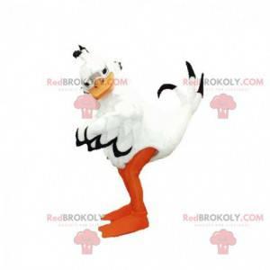 Riesiges Maskottchen der schwarzen und orange weißen Ente -
