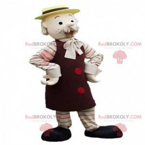 Maskottchen alter Mann mit einem gelben Hut - Redbrokoly.com