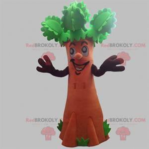 Maskot obří hnědý a zelený strom. Maskot keřů - Redbrokoly.com