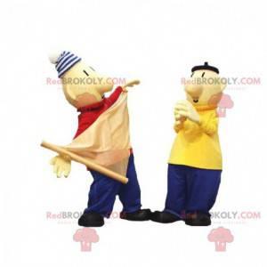 2 maskoti námořníků s barevnými oděvy - Redbrokoly.com