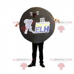 Hockey puck maskot. Sportsmaskot - Redbrokoly.com