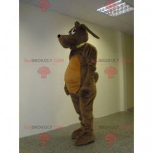 Süßes und süßes braunes Hundemaskottchen - Redbrokoly.com