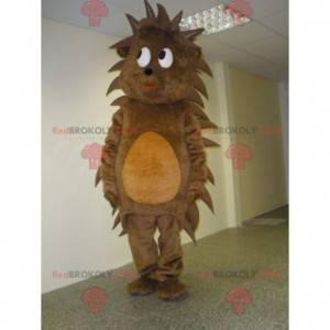 Měkký a roztomilý hnědý a oranžový ježek maskot - Redbrokoly.com