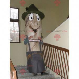 Baguette-Maskottchen in traditioneller tschechischer Kleidung -