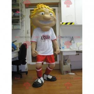 Maskot sportovce ve sportovním oblečení - Redbrokoly.com