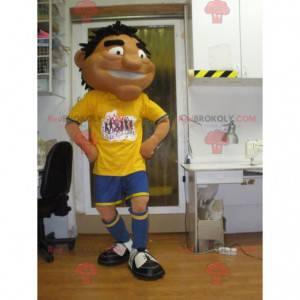 Maskottchen gebräunter Sportler in Sportbekleidung -