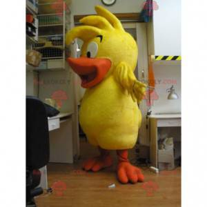 Žlutý a oranžový pták kachna kuřátko maskot - Redbrokoly.com